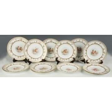 Set of 12 Fine and Rare Meissen Plates