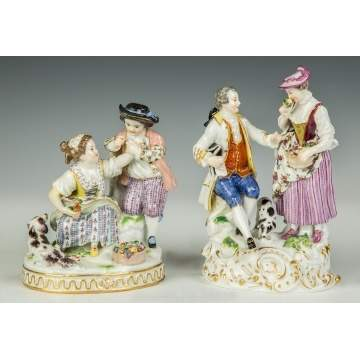 Two Meissen Figural Groups with Courting Couples