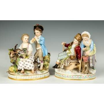 Pair of Meissen Figural Groups