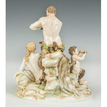 Meissen Figural Group with Bacchus