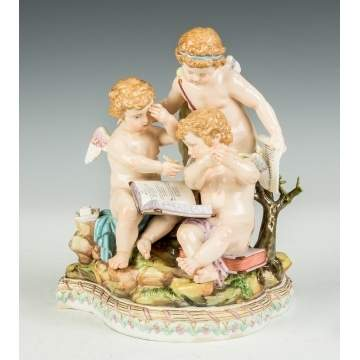 Meissen Figural Group with Cherubs