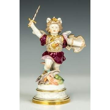 Meissen Figure of St. George Slaying the Dragon