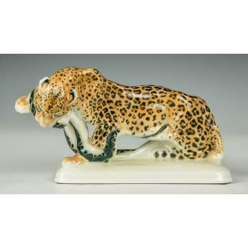 Meissen Leopard and Snake