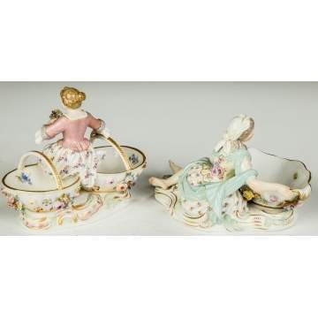 Two Meissen Sweet Meat Dishes