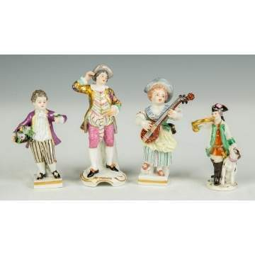 Four Meissen Figures