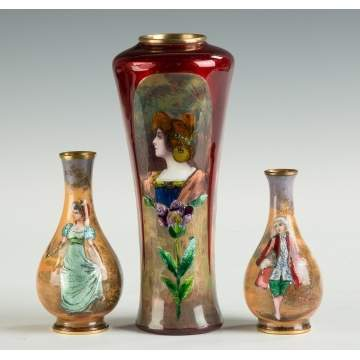 Enameled Vases