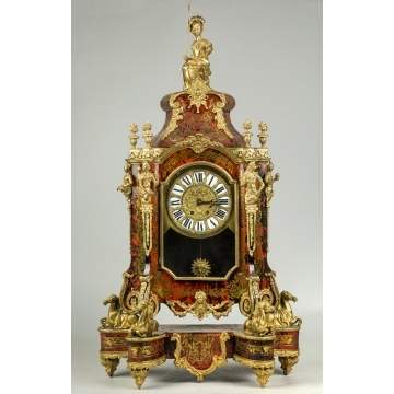 Large Boulle Mantle Clock