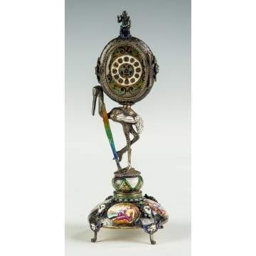 A Fine Ferdinand Berthoud (French, 1727-1807) Enameled Clock