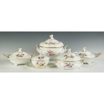 Meissen Serving Pieces and Tableware