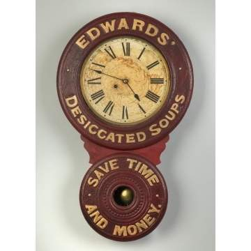 Baird Clock Co. Advertising Wall Clock, Prattsburg, NY