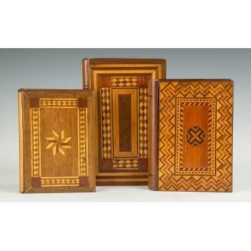 Inlaid Walnut Book Boxes