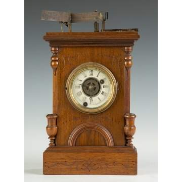 B. Bradley & Co. Illuminated Alarm Clock, Boston, MA
