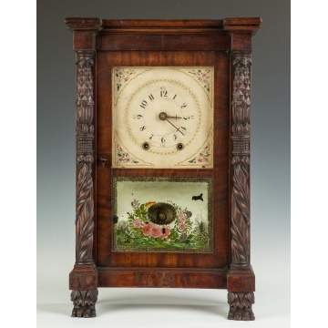 Rare Mark Leavenworth Miniature Shelf Clock