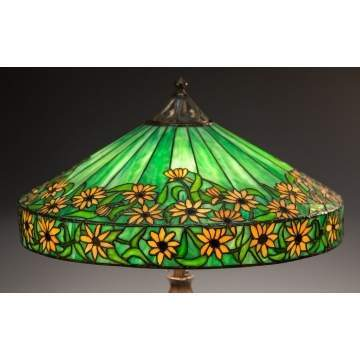 Handel Black Eyed Susan Leaded Glass Lamp