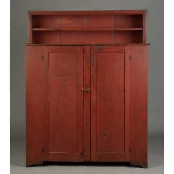 New York State Two-Door Cupboard with Shelf Back