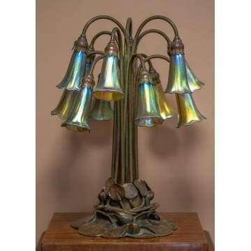 Tiffany Studios Twelve Light Lily Lamp