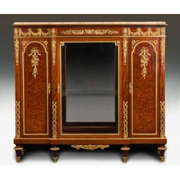 Fine Marquetry Inlaid Kingwood Side Cabinet, Possibly Francois Linke