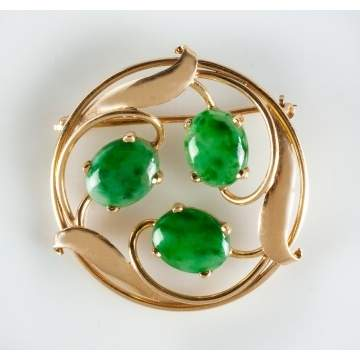 Tiffany and Co. 14K Gold Brooch with Leaf Design