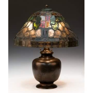 Duffner and Kimberly Leaded and Stained Glass  Table Lamp