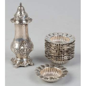Sterling Silver Castor and Salts