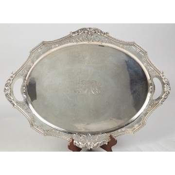 International Cast and Applied Silver Tray