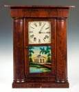 Mark Levenworth Empire Faux Hollow Column Shelf  Clock, Waterbury, CT