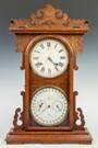 "E. N. Welch ""Arditi"" Gales New Perpetual Calendar  Shelf Clock"