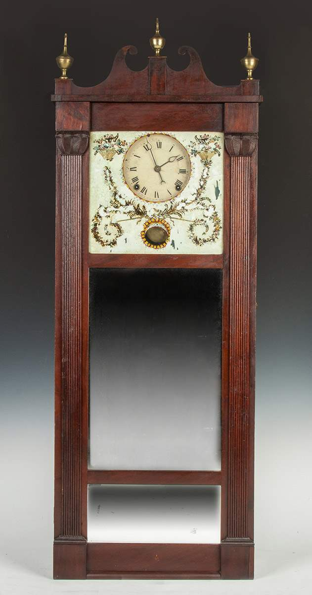 Joseph Ives Hanging Mirror Clock
