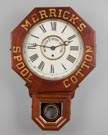 Merricks Spool Cotton Advertising Wall Clock