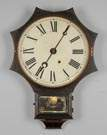Terry Clock Co. Iron Front Wall Clock with Star Front