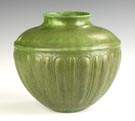 Grueby Pot with Relief Lobed Decoration