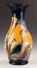 Contemporary Moorcroft Floor Vase with a Heron,  Cattails and Sunset