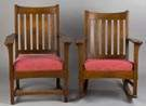 "Two Lifetime Arts/Crafts Chairs, ""Puritan Line"""