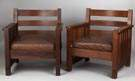 Attributed to Charles Stickley Arm Chairs