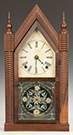 JC Brown Rosewood and Mahogany Ripple Front   Steeple Clock