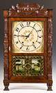 Fine and Rare Atkins and Downs Carved Transitional  Shelf Clock