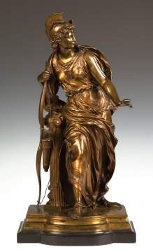 "Mathurin Moreau (French, 1822-1912) ""Antiope"" Bronze"
