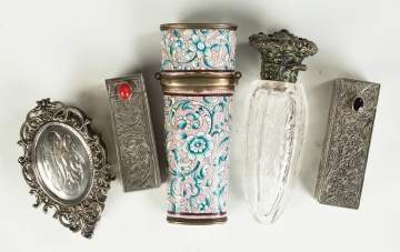 Silver and Enameled Compacts and Perfumes