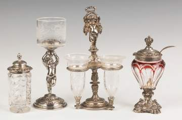Group of Various Silver and Cut Glass Table Articles