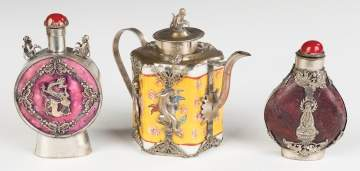 Chinese Scent Bottles and Teapot