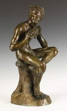 "Anna Coleman Ladd (American, 1878 - 1939) ""Forest  Pan"" Bronze"