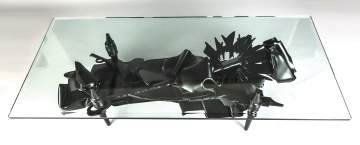 Albert Paley (American, Born 1944) Painted Steel Coffee Table, Mid-20th Century