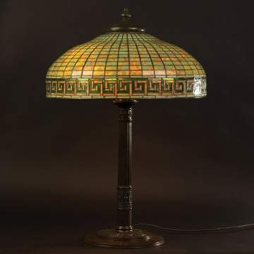 Tiffany Studios Greek Key Lamp