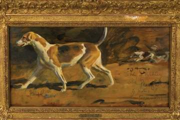 "Sir Alfred James Munnings  (English, 1878-1959) ""Study of a Hound"""