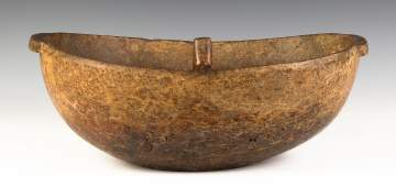 Native American Burl Bowl with Handles