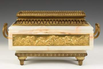 Fine French Gilt Bronze and Onyx Ferner