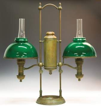 Tiffany Double Post Student Lamp