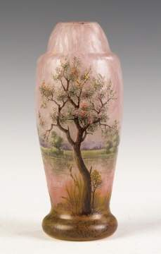 Fine Daum Nancy Five Color Cameo Vase