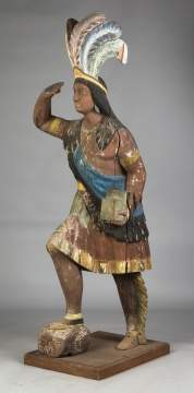 Carved and Painted Cigar Store Indian Chief