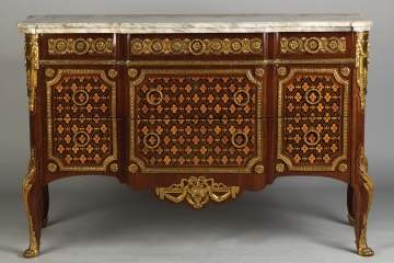 Louis XV/XVI Transitional Style  Marble Top  Commode